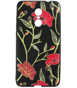 Силикон Xiaomi Redmi Note4X 3D Flowers black