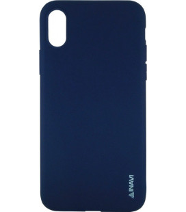 Силикон iPhone X dark blue Inavi