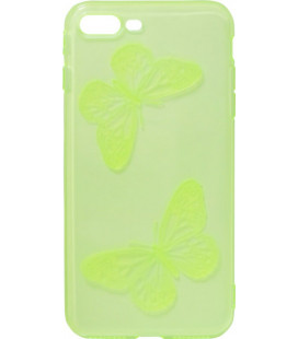 Силикон iPhone 7+ lime Baterfly