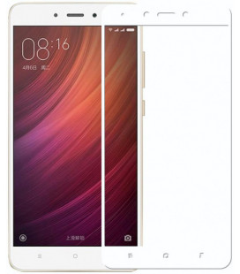 Стекло Xiaomi Redmi4X white frame 5D Strong (Премиум)