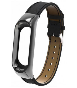 Ремешок Xiaomi Mi Band 3 Leather Black