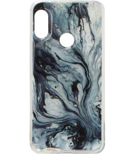 Силикон Xiaomi Redmi Note7 gray Marble