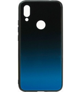 Накладка Xiaomi Redmi7 blue/black Gradient Glass
